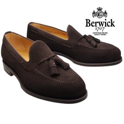 バーウィック 靴 タッセルローファー 8491 ダークブラウンスエード レザーソール Berwick1707