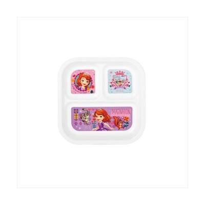 スクエアランチプレート 仕切り皿 ちいさなプリンセス ソフィア ディズニー ヤクセル 22×22×2.6cm キッズプレート キャラクター