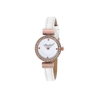 ケネスコール New Kenneth Cole レディース ホワイト レザー ホワイト ダイヤル KC10022302 腕時計