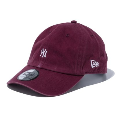 ニューエラ NEW ERA Casual Classic ニューヨーク・ヤンキース MLB カスタム ミニロゴ マルーン 55.8 - 59.6cm キャップ 帽子 日本正規品