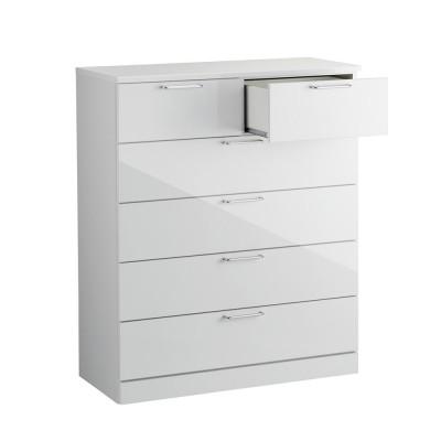 Muro/ムーロ ホワイトモダンチェスト 幅100cm 5段 ホワイト