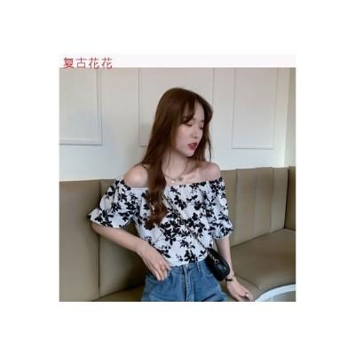 【送料無料】夏 韓国風 気質 フレンチ タイプ レトロな花柄 シャツ フラ | 346770_A63349-7795768