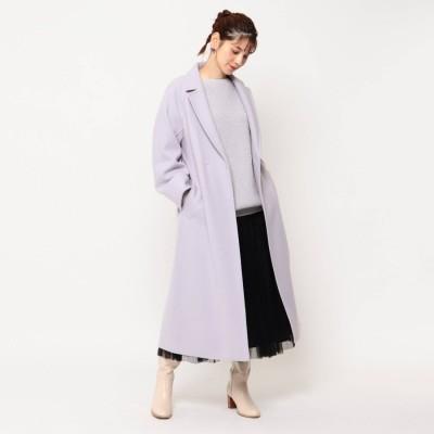 クチュール ブローチ Couture brooch ライトメルトンジャージラップコート (ライトパープル)