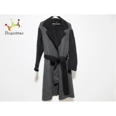 ジョセフ JOSEPH コート サイズ38 L レディース 美品 - ダークグレー×黒 長袖/カシミヤ/冬 新着 20210219