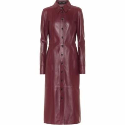 プロエンザ スクーラー Proenza Schouler レディース ワンピース ミドル丈 ワンピース・ドレス Leather midi dress Bordeaux