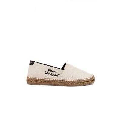 イヴ サンローラン Saint Laurent レディース エスパドリーユ シューズ・靴 Signature Espadrilles White/Black