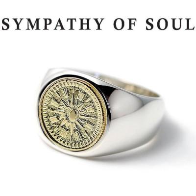 シンパシーオブソウル 指輪 SYMPATHY OF SOUL Classic Coin Ring Hope Sun Silver K18YG クラシック コイン リング シルバー K18イエローゴールド