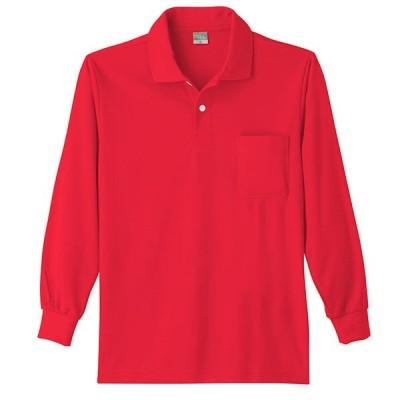 ワークウェア・作業用ポロシャツ 小倉屋 DRYシリーズ DRY 長袖ポロシャツ レッド 9007-10-LL 1枚(直送品)