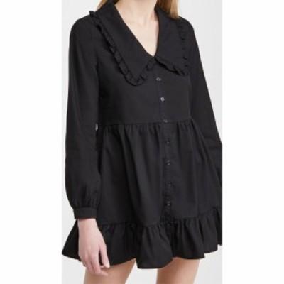 リネームド re:named レディース ワンピース ワンピース・ドレス Eli Large Collared Dress Black
