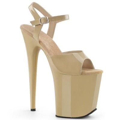取寄せ靴 送料無料 PLEASER プリーザー サンダル 20.5cmヒール 大きいサイズあり
