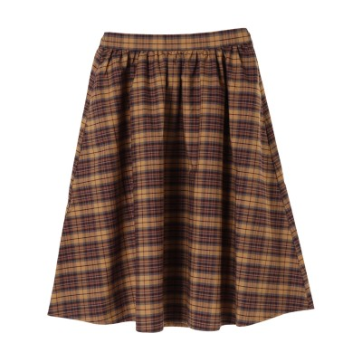 ・秋色ミディアムフレアスカート
