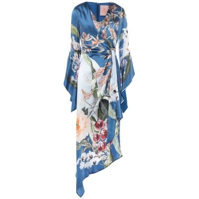 KITAGI® ミニワンピース&ドレス ブルー 38 シルク 100% ミニワンピース&ドレス