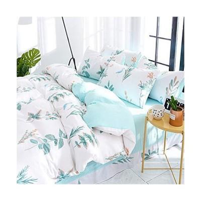 ZT-HOME シンプルスタイル寝具セット クイーンシングルダブル寝具セット シーツセット ダブル4ピース ガールズ?