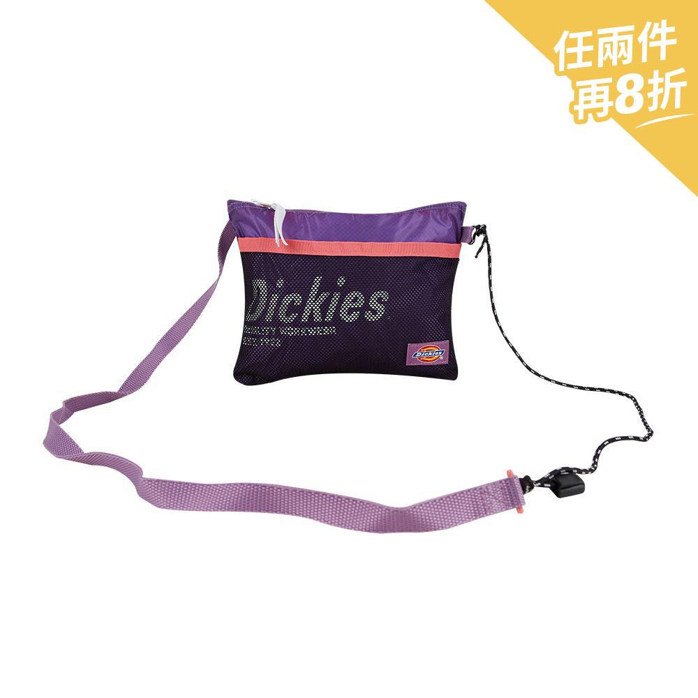 Dickies男女款紫羅蘭色CORDURA材質Logo字母印花側背包|DK008853B78