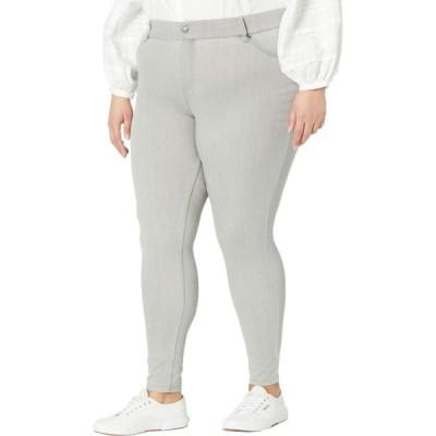 フエ HUE レディース ジーンズ・デニム 大きいサイズ ボトムス・パンツ Plus Size High-Waist Ultra Soft Denim Leggings Silver/Grey Wash