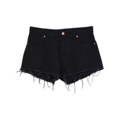 VICOLO デニムショートパンツ ブラック XS コットン 100% デニムショートパンツ