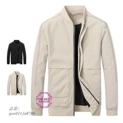 ミリタリージャケット 秋物 大きいサイズ 防風 秋服 ブルゾン ジャケット メンズ 立ち襟