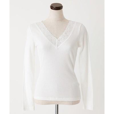 tシャツ Tシャツ WINTER EDITION LACE V NECK PO/ウィンターエディションレースVネックプルオーバー