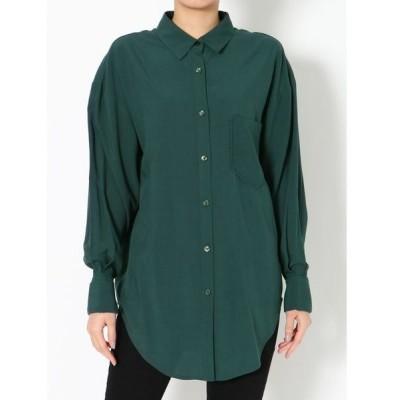 シャツ ブラウス ダブルカフスオーバーシャツ