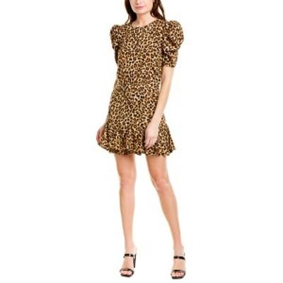 ヴェロニカ ベアード レディース ワンピース トップス VERONICA BEARD Lila Silk-Blend Mini Dress leopard