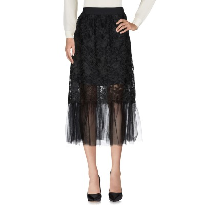 リュー ジョー LIU •JO 7分丈スカート ブラック 40 ポリエステル 100% / ナイロン / ポリウレタン 7分丈スカート