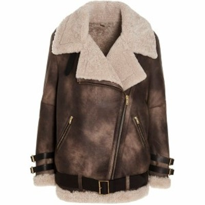 GOLDEN GOOSE DELUXE BRAND/ゴールデン グース デラックス ブランド Gray Chelsey' sheepskin jacket  レディース 秋冬2021 GWP00677P00