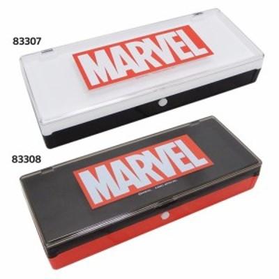 マーベル 筆箱 プラコレ ペンケース ホワイト×ブラック MARVEL キャラクターグッズ通販