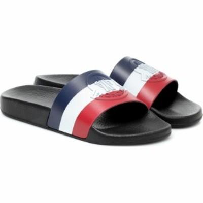 モンクレール Moncler レディース サンダル・ミュール シューズ・靴 Jeanne striped rubber slides