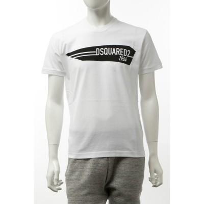 ディースクエアード Tシャツ 半袖 丸首 クルーネック メンズ S74GD0657S22427 ホワイト 2020年春夏新作 DSQUARED2