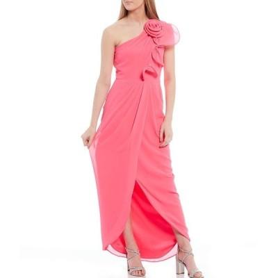 バッジェリーミシュカ レディース ワンピース トップス Tessa One Shoulder Gown Pink