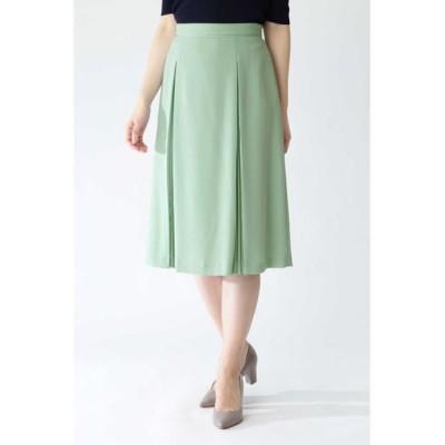 NATURAL BEAUTY/ナチュラルビューティー ◆ソフトジョーゼットプリーツスカート ミントグリーン 36
