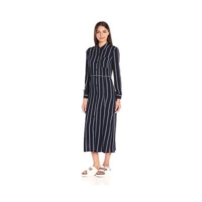 Splendid レディース Rope ストライプ Shirtdress Maxi, ネイビー, S(海外取寄せ品)