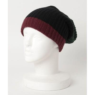 fridge setagaya 出張所 / 【COLUMBIAKNIT】コロンビアニット Bulky Knit Color Block Caps MEN 帽子 > ニットキャップ/ビーニー