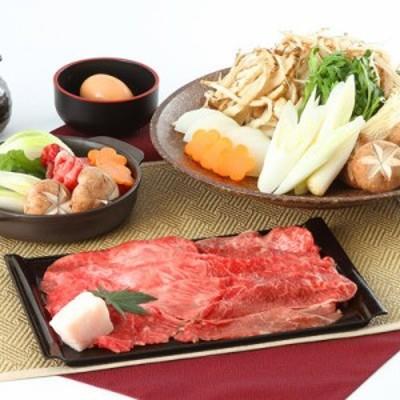 厳選食材を使用した 兵庫県産牛(または特選黒毛和牛)すきやきセット