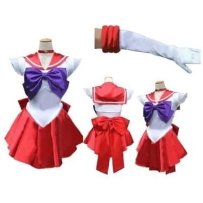 美少女戦士セーラームーン 火野レイ 風 セット コスチューム 赤 Mサイズ