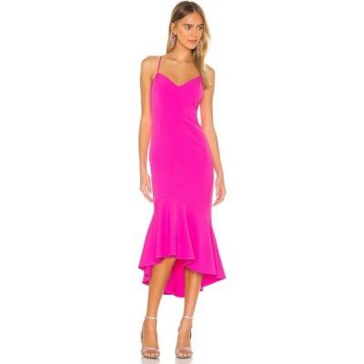バルドー Bardot レディース ワンピース ミドル丈 ワンピース・ドレス Lisandra Midi Dress Pink Shock