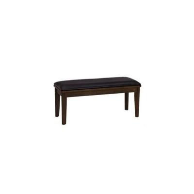 ダイニングベンチ PVC 木製 ダークブラウン 幅95×奥行38cm 【組立品】【代引不可】 [▲][TP]