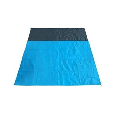 <新品>Moonite Large Waterproof TPU Beach Mat Picnic Blanket, Handy Lightweighted Weatherproof Sand Beach Blanket for Camping Hiking Gr
