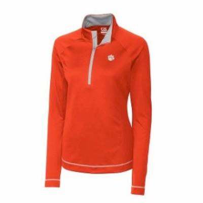 Cutter & Buck カッター アンド バック スポーツ用品  Cutter & Buck Clemson Tigers Womens Orange Evolve Half-Zip Ja