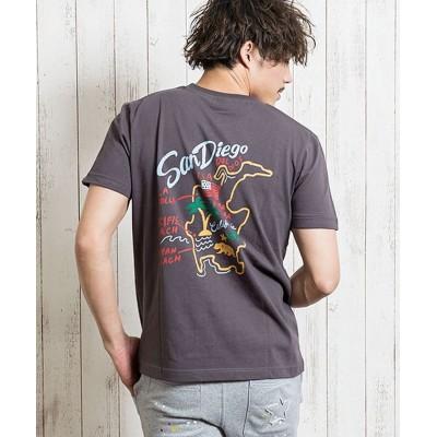 (HANG TEN/ハンテン)HANG TEN【ハンテン】ワンポイント刺繍クルーネック半袖Tシャツ/メンズ その他系2