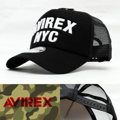 メッシュキャップ 帽子 メンズ AVIREX NYC MESH CAP アヴィレックス アビレックス ブラック 14916500-80 UV対策 USA ミリタリー