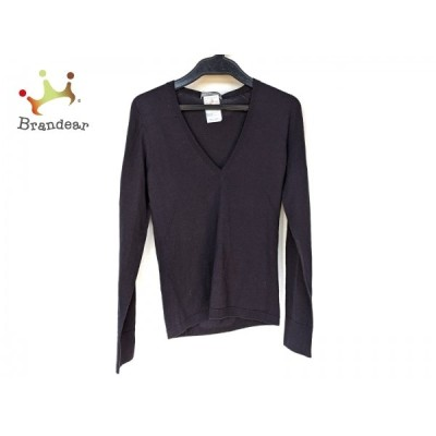 セオリーリュクス theory luxe 長袖セーター サイズ38 M レディース 美品 - ダークネイビー 新着 20210206