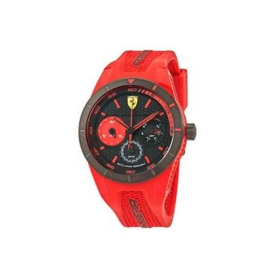 腕時計 フェラーリ メンズ Ferrari Rev-T Black Dial Men's Multifunction Watch 830258