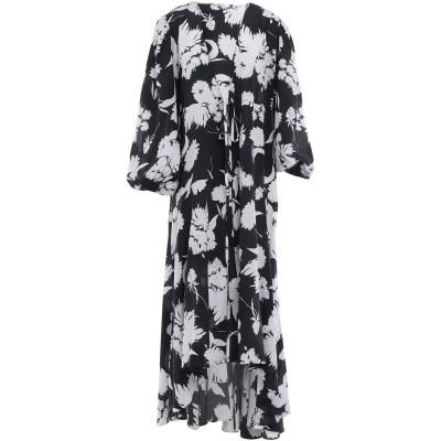 ガニー GANNI 7分丈ワンピース・ドレス ブラック 34 シルク 100% 7分丈ワンピース・ドレス