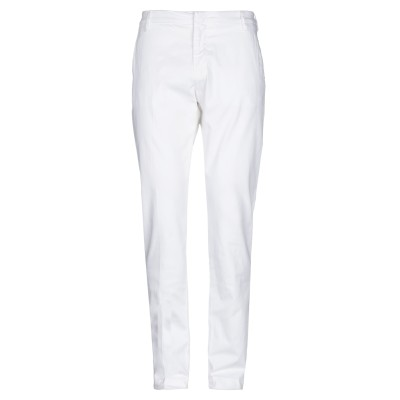 アントレ アミ ENTRE AMIS パンツ ホワイト 36 コットン 94% / シルク 4% / ポリウレタン 2% パンツ