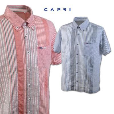 カプリ メンズ 半袖シャツ (M)(L)(LL) CAPRI 3231-1573
