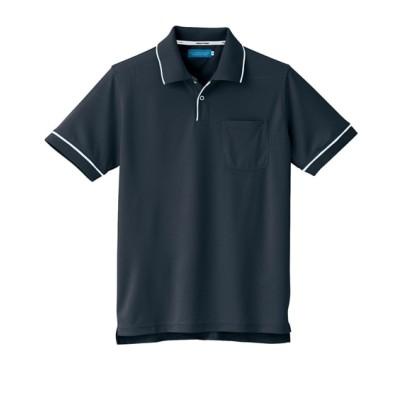 KURODARUMA 26621 ウェーブ論素材脇スリット半袖ポロシャツ 作業服