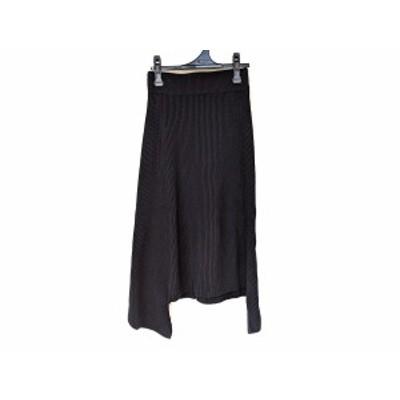 ハイク HYKE ロングスカート サイズ1 S レディース 美品 - 黒 ニット【中古】20210209