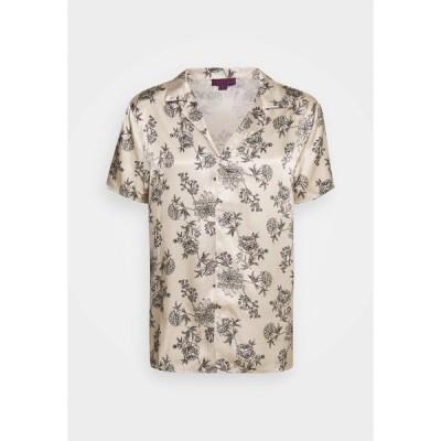 アーバン スレッド  Tシャツ メンズ トップス PRINTED FLORAL REVERE - Print T-shirt - black/ecru