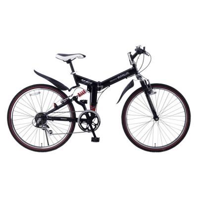 マイパラス M-671RE-BK ブラック [折りたたみ自転車(26インチ・6段変速)] 折りたたみ自転車・ミニベロ